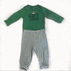 Carter's Holiday Two Piece Outfit, Size 9 Months